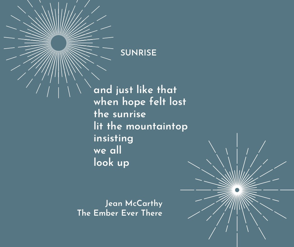 Sunrise poem by Jean McCarthy